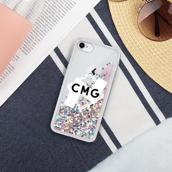 Liquid Glitter CMG Logo Phone Case
