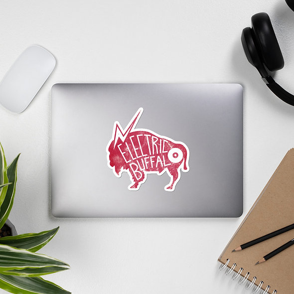 Red Electric Buffalo Records Sticker (multiple sizes available)