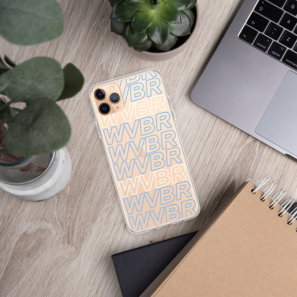 Blue WVBR Outline iPhone Case