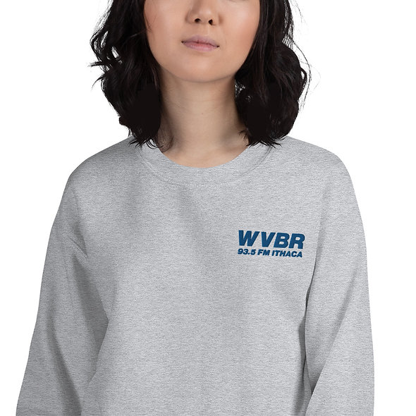 Embroidered Blue WVBR Logo Unisex Sweatshirt (multiple colors available)