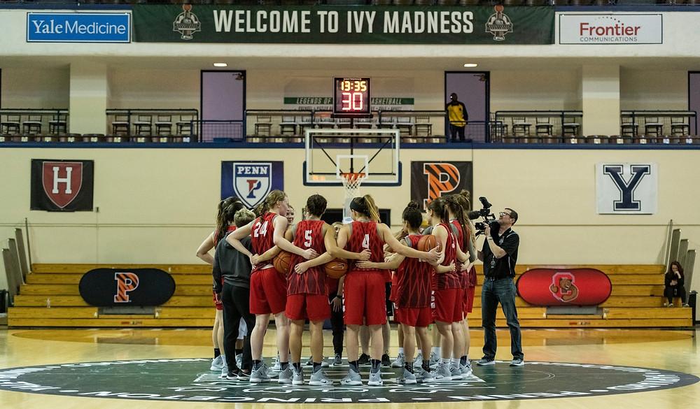 2018-2019 Cornell Women's Basketball team prepares for a major matchup.