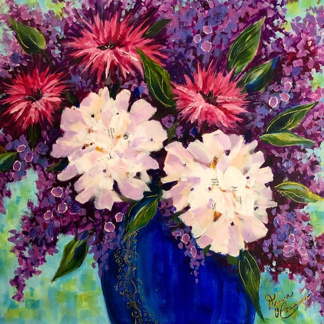 Blue Vase Hydrangeas