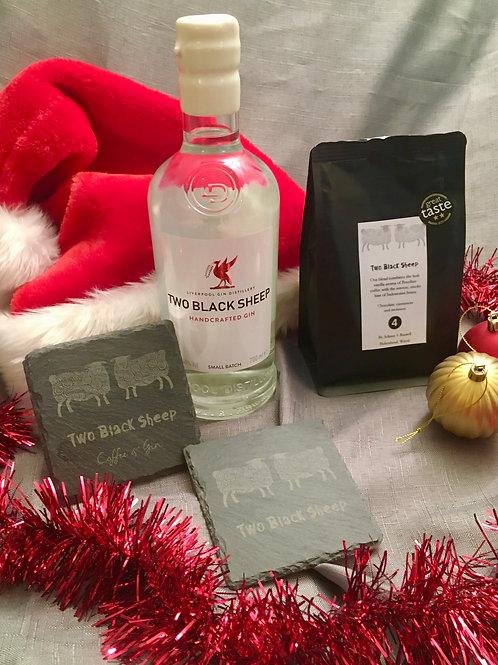 Christmas gift bag - Gin, Coffee & Coasters