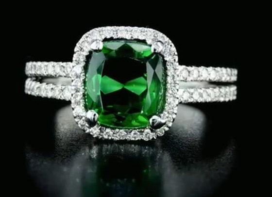 טבעת יהלומים ואבן חן אופק
