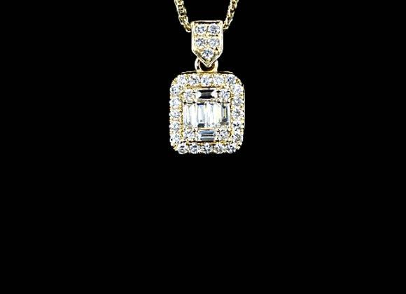 שרשרת זהב משובצת יהלומים Jasmine