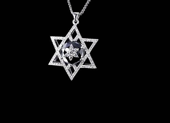 שרשרת יהלומים מגן דוד YAHEL