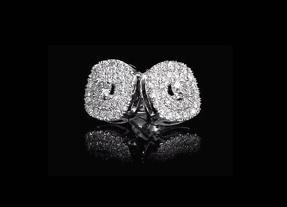 עגילים כפתורי יהלומים