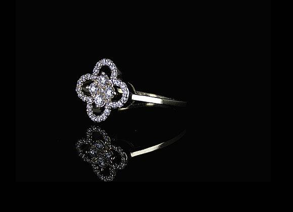 טבעת יהלומים פלאוור פאוור