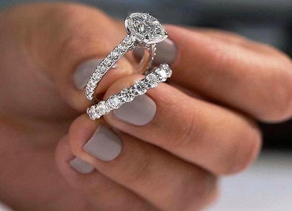 טבעת יהלומים אנג'ל