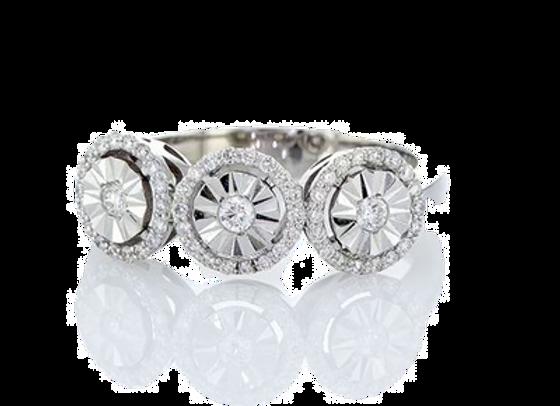 טבעת יהלומים אורות