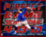 Jayson Schroeder Perfect Game Commemerative Poste