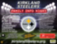 Kirkland Steelers Info Night Flyer