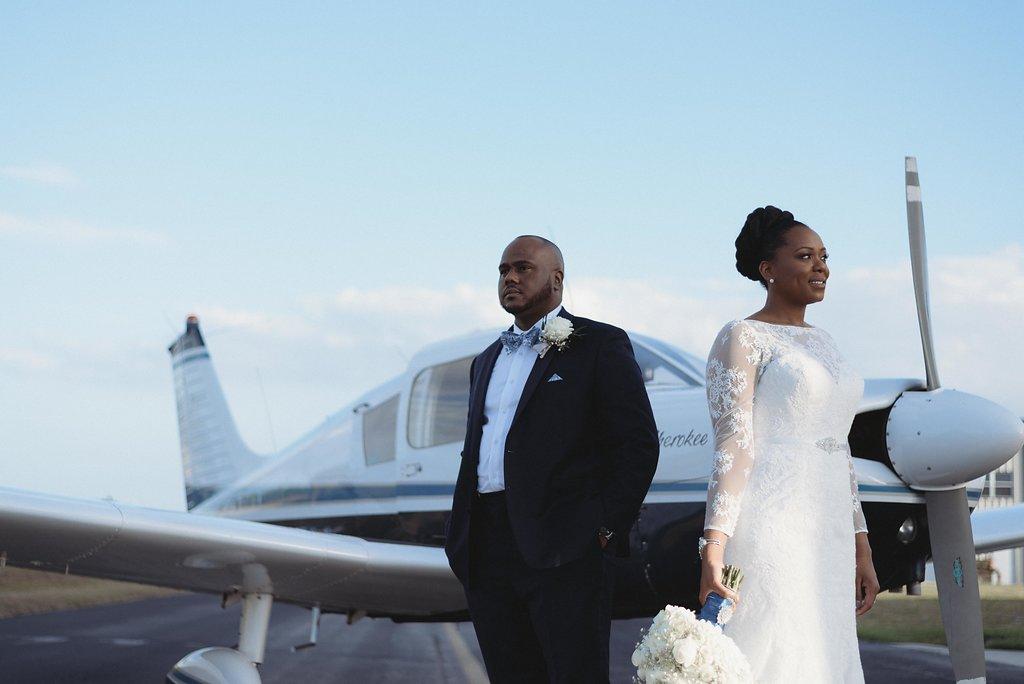 Wedding Formals at Private Airport