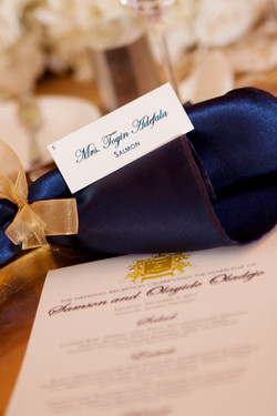 Custom Place Cards - Waldorf Astoria