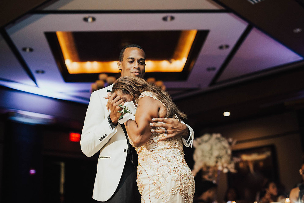 mother son dance nfl wedding grand bohemian