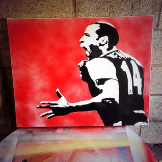 """Thierry Henry No14 (30""""x24"""")"""