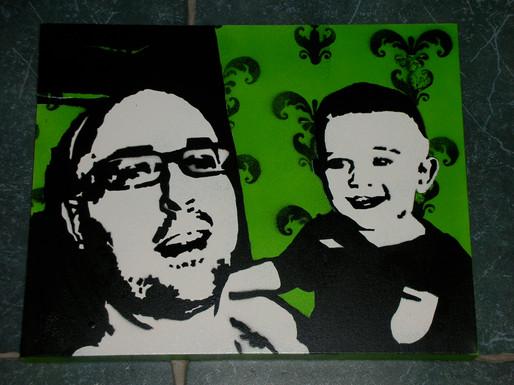 """Dad & Son (30""""x24"""")"""