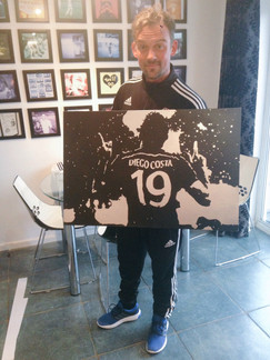 """Diego Costa No19 (36""""x24"""")"""