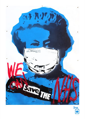 We Can Save The NHS 'Hijacked' (A3) Limited Edition Print