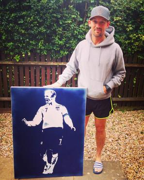 """David Beckham (30""""x24"""")"""