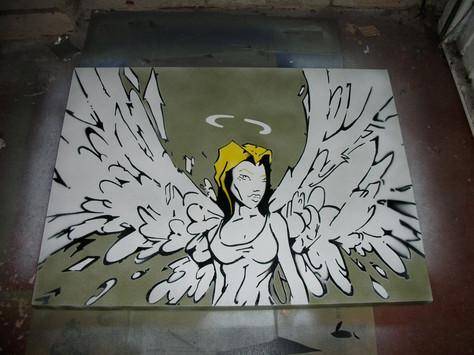 "Street Angel (40""x30"")"