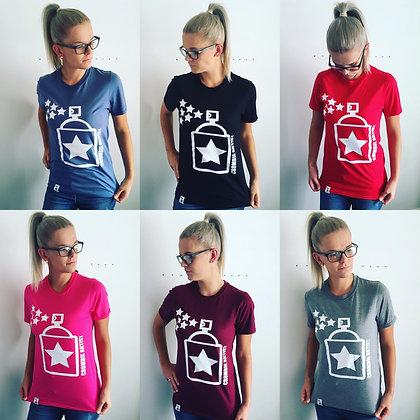 Women's Vin T-shirt (White Print)