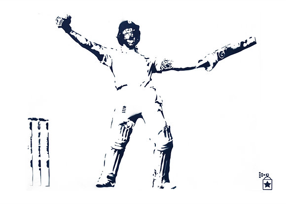 Ben Stokes 135 Not Out (A3) Limited Edition Print