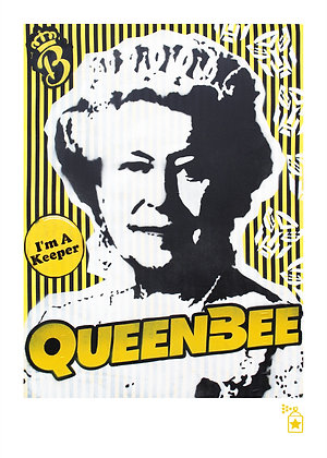 Queen Bee 'Dressed' (A4) Limited Edition Print