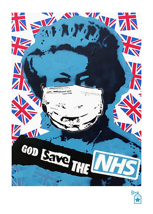 God Save The NHS 'Dressed' (A4) Limited Edition Print