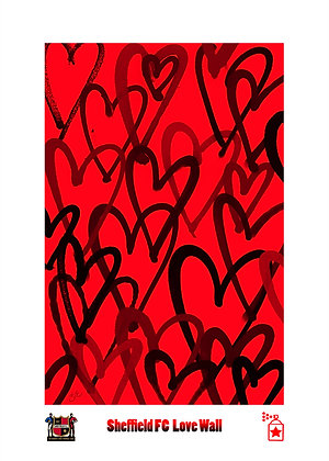 Sheffield FC Lovewall: Red (A4) Limited Edition Print