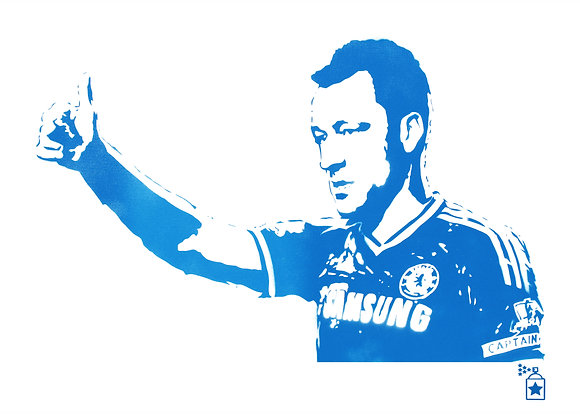 John Terry Blue (A3) Limited Edition Print