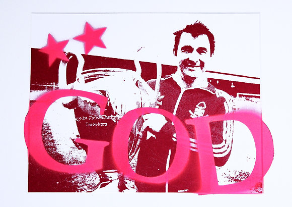 Gone: #3 BC GOD (Pink) Hand Sprayed / Screen Print