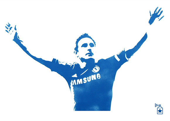 Frank Lampard Blue (A3) Limited Edition Print
