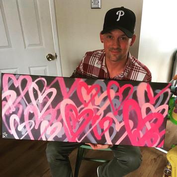 "Lovewall Pink (36""x20"")"