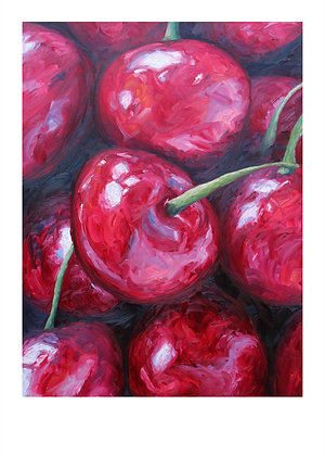 Cherries by Joe Giampalma (A3) Limited Edition Print