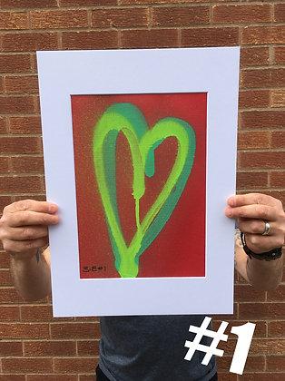 Heart Duo (A4) Original Spray 1-10