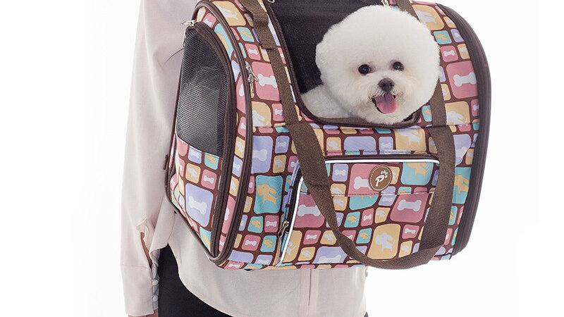 Luxury Looking Canvas Dog Carrier Backpack