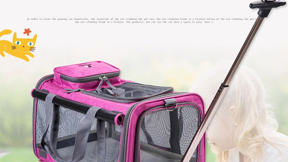 Breathable Dog Travel Stroller With Extendable Handle