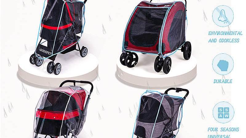 Wind Rain Proof Outdoor Dog Carrier Trolley Stroller