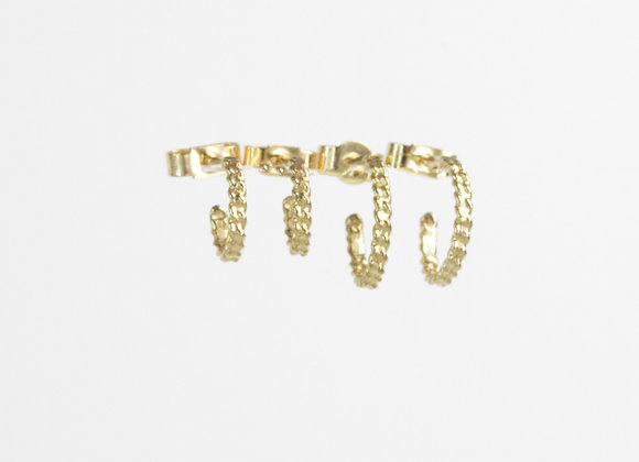 9ct Gold Chain Hoops