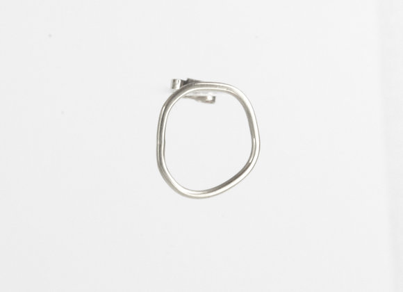 Recycled silver earring in large from Nicola Bannister's cell collection. Handmade and designed in the shape of a cell.