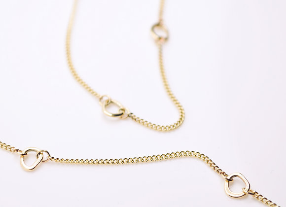 Solid 9ct Gold Linked Cell Chain