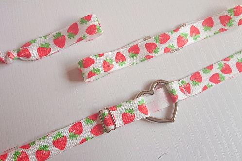 Ella/Ava Garter Set - Strawberries and Cream