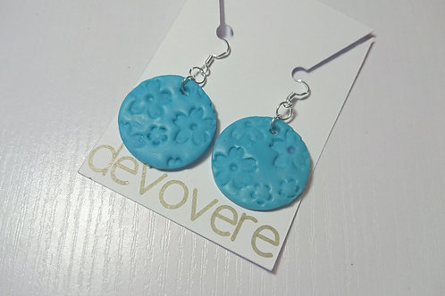 Blue Cherry Blossom Earrings