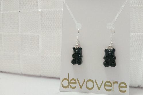 Black Gummy Bear Earrings