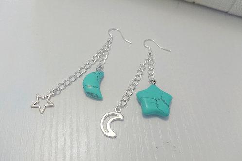 Turquoise Night Sky Earrings