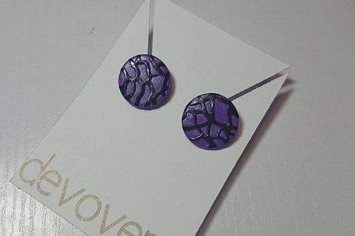 Purple Blooms Earrings