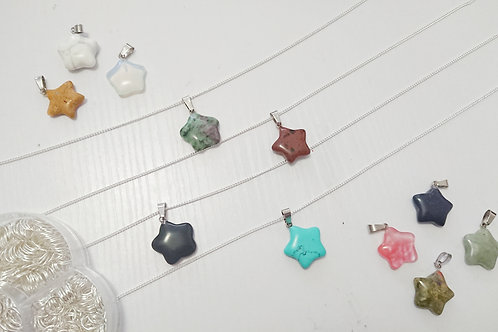 Crystal Star Stone Necklace