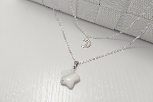 Howlite Night Sky Double Necklace