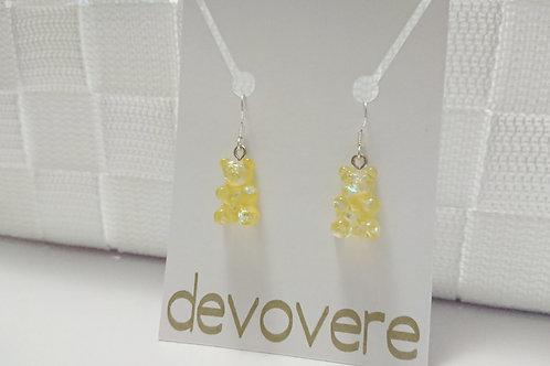 Yellow Gummy Bear Earrings